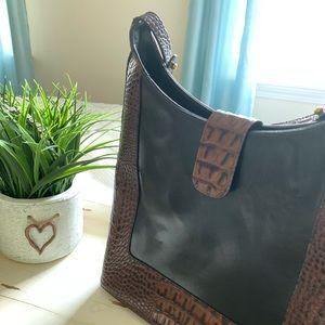 Brahmin handbag. Dark brown and black. EUC